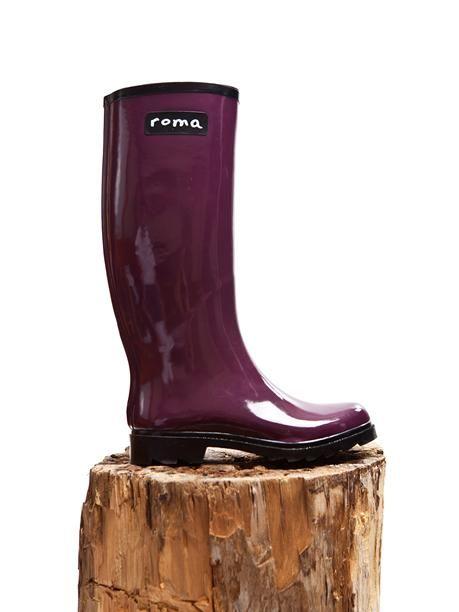 Roma Provisions Rainboots - Roma Boots Glossy Plum | VAULT