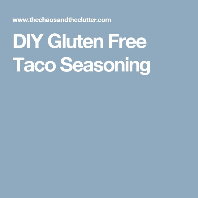 DIY Gluten Free Taco Seasoning