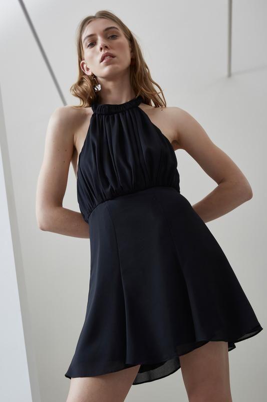 FADING NIGHTS MINI DRESS black