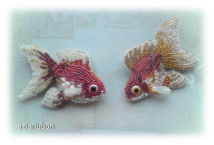 И снова Золотые Рыбки. | biser.info - всё о бисере и бисерном творчестве