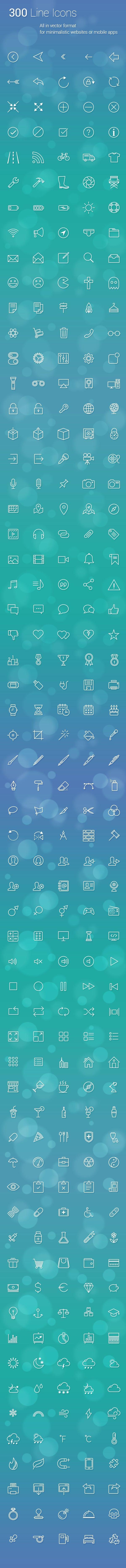 300 line icon