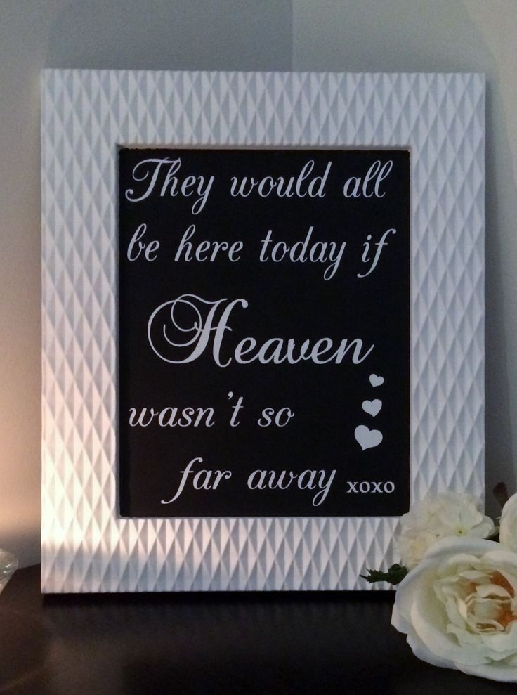 """Memorial blackboard to sit next to your loved ones - white picture framed 8 x 10""""  ~  For Hire @ www.celebrationblackboards.com.au"""