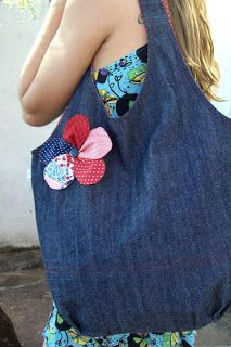 Denim bag just inspiration Bonnie would like this