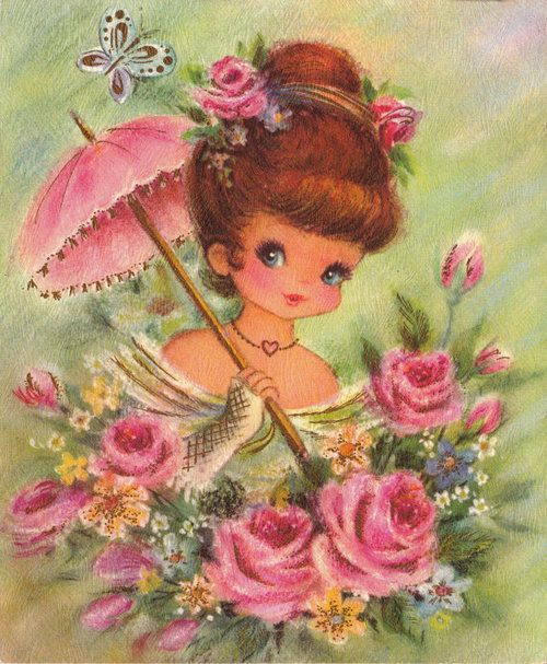 I rember getting cards like these as a little girl. Wish I would've saved them