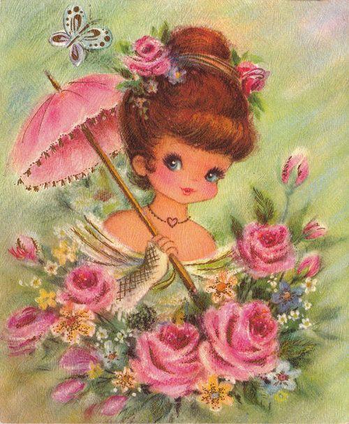vintage card - sweet