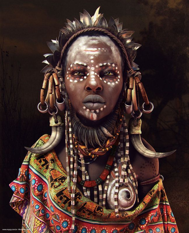 Moises Gomes | African Women  Hello my friends,        This work developed to study techniques of modeling organic, rendering and composition. It was inspired by photographs of women of African tribes.