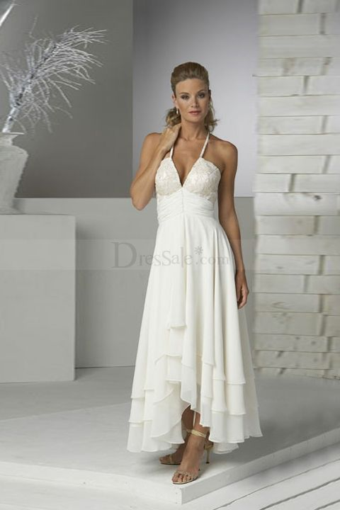 http://www.dressale.com/anklelength-aline-wedding-dress-with-tiered-ruffles-p-29054.html- For more amazing finds and inspiration visit us at http://www.brides-book.com/#!brides-book-outlet-bridal/c9wq