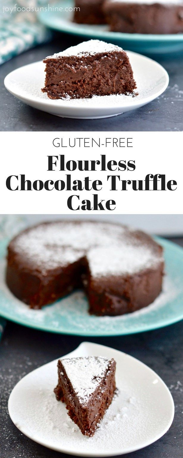 Flourless Chocolate Truffle Cake Recipe! A show-stopping gluten-free dessert for serious chocolate lovers.