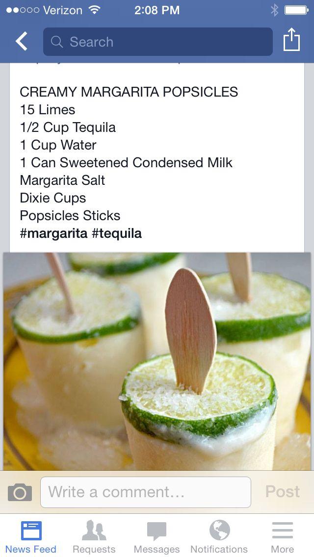 Margarita Popsicles | Recipes | Pinterest