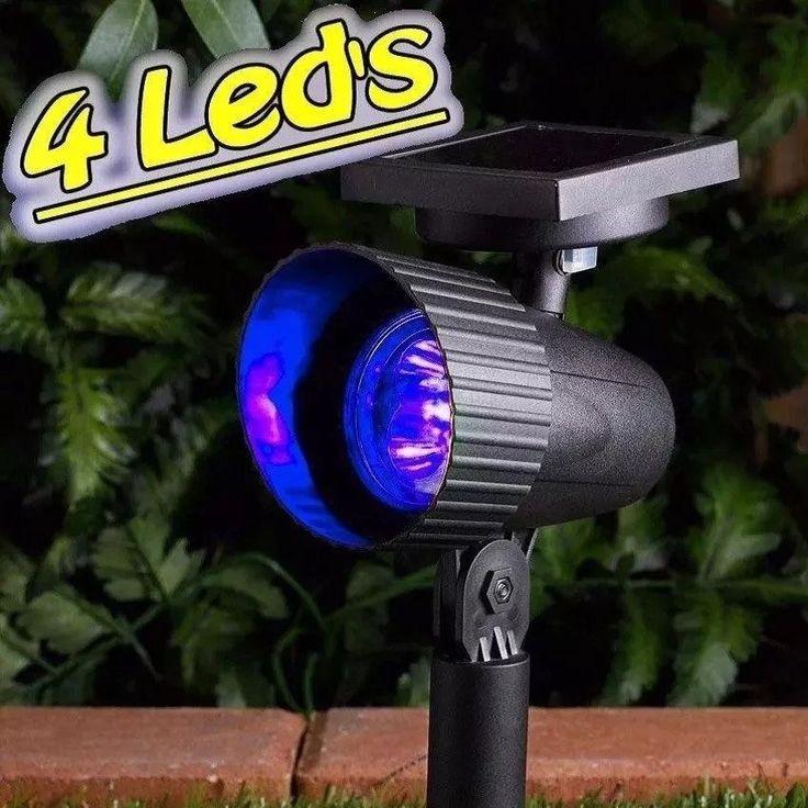 Refletor Luminária Solar Spot Azul