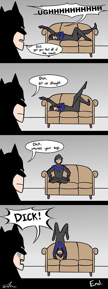 How to train your Dick Grayson - this is me with my parents