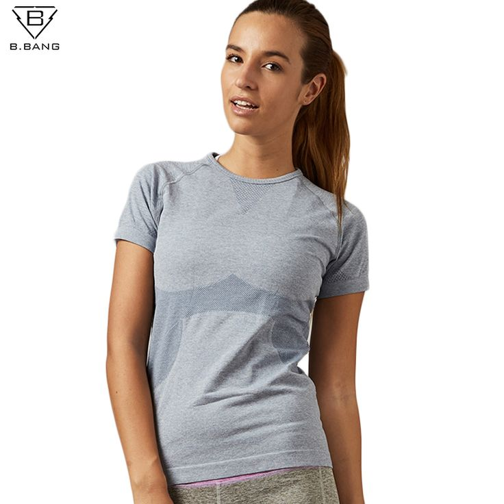 B.BANG Dry Quick Gym Yoga T Shirt Tights Women's Sport Tees for Running Gym Fitness Short Sleeve Clothes Tops for Woman
