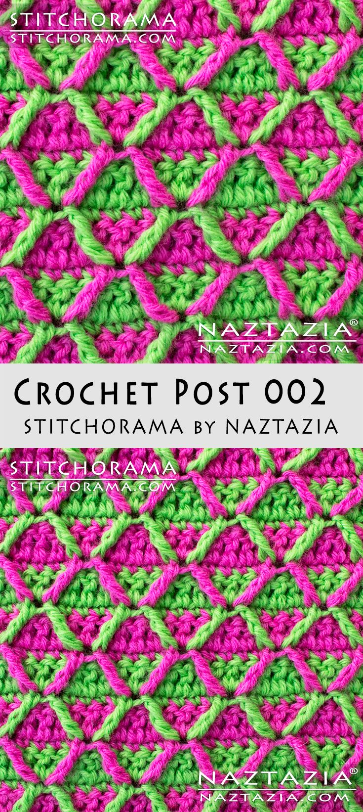 Crochet Post 002 Stitchorama by Naztazia Free Pattern & DIY Tutorial YouTube Video by Donna Wolfe