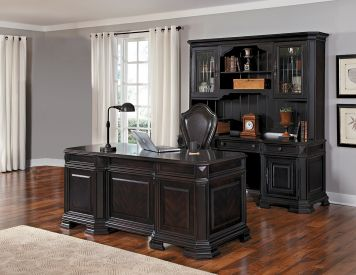 Lexington Executive Desk Set in Black | Samuel Lawrence | Home Gallery Stores