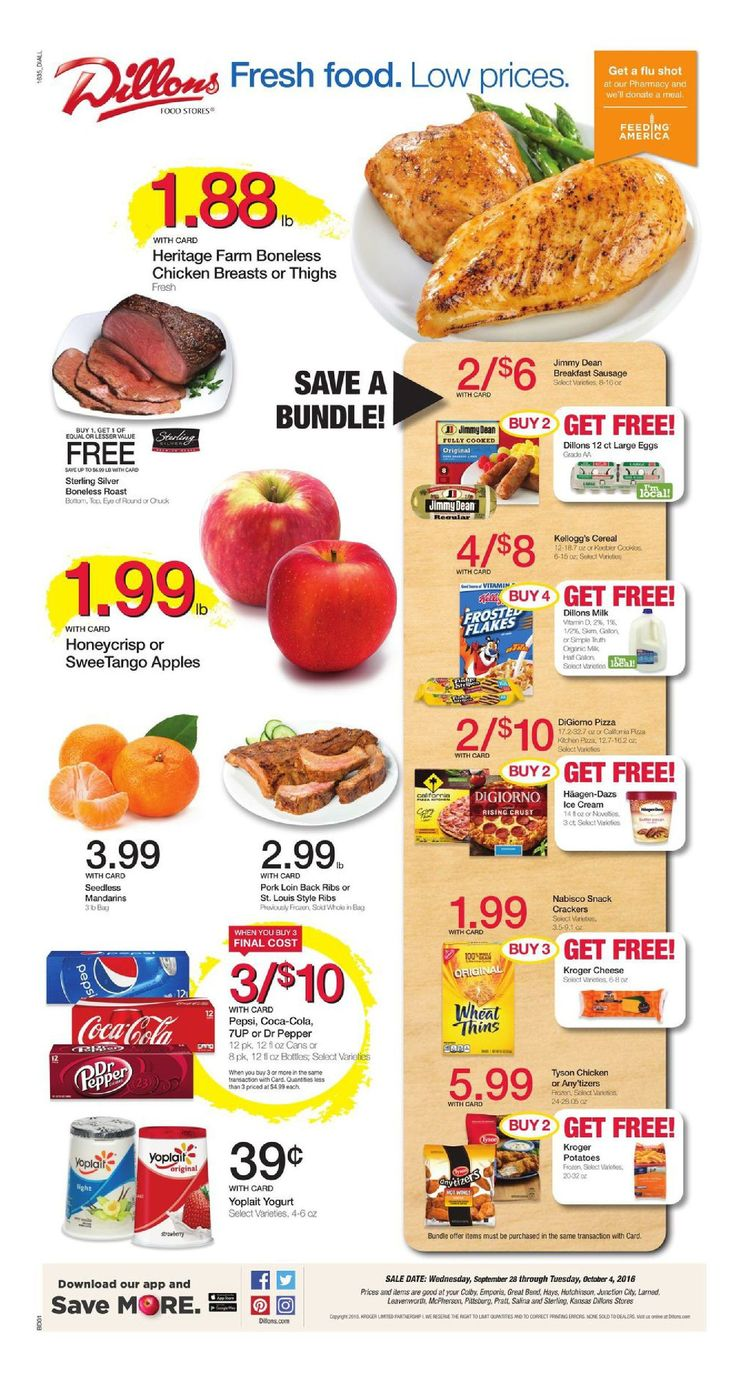 Dillons Weekly Ad September 28 - October 4, 2016 - http://www.olcatalog.com/grocery/dillons-weekly-ad.html