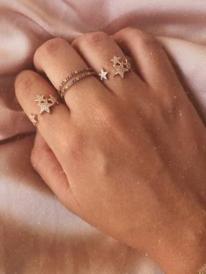 Grace Stacked Stars Ring