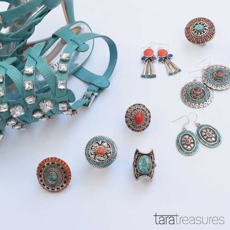 Blinging with turquoise jewellery #summerstyle