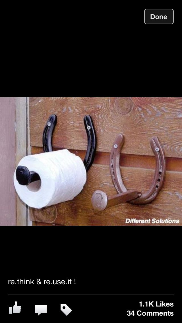 Horse shoe TP holder                                                                                                                                                      More