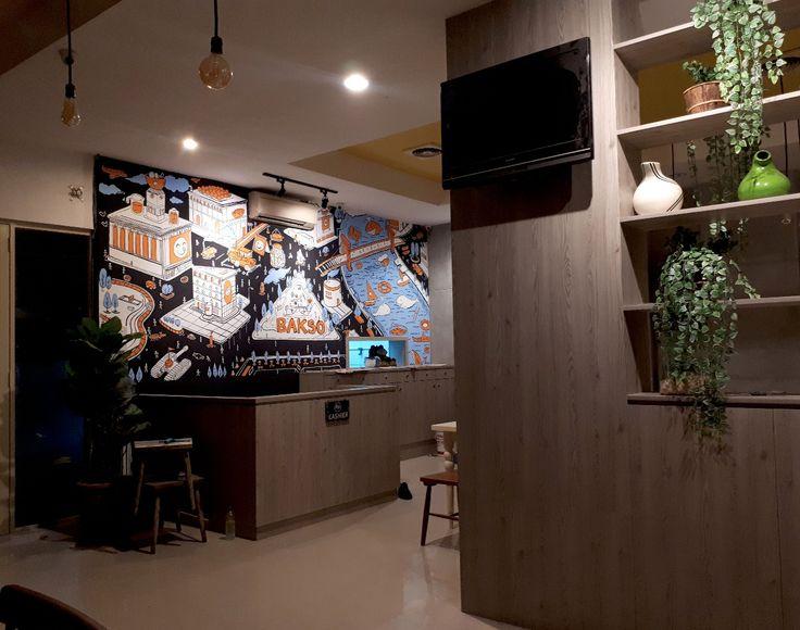 Mural Restoran Bakso Lapangan Tembak Bali, Mural for Restaurant, Mural by iMural
