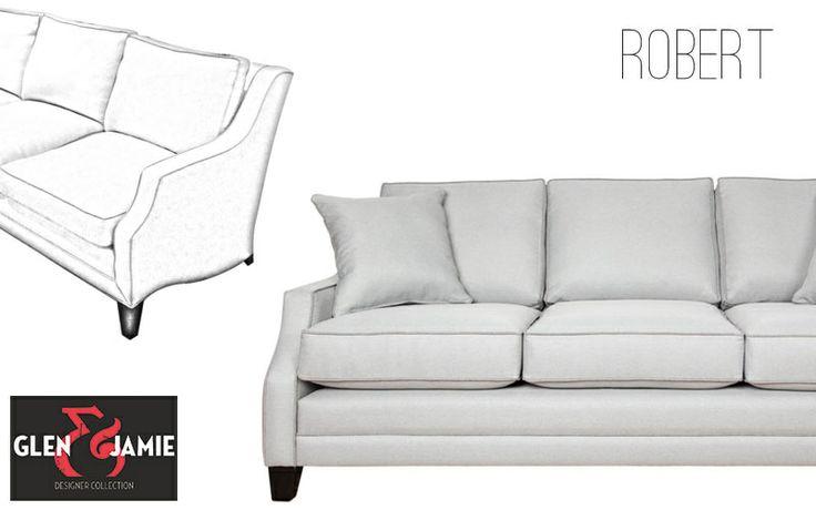 Robert sofa from Glen and Jamie's designer collection #GlenandJamie #furniture #design #sofa