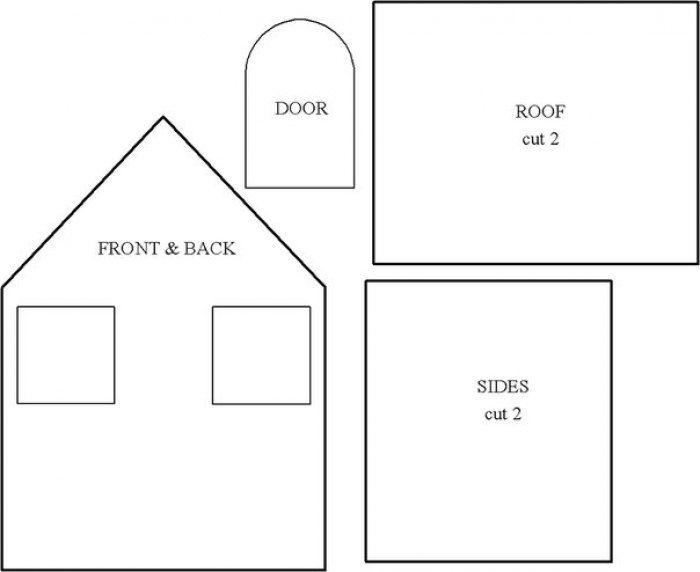 Маленькие домики из картона и ткани. Мастер-класс.