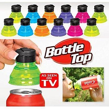 [NewYearSale]3pcs zetten omzetten blikjes in flessen herbruikbare snap op tops soda deksels caps dekking - EUR € 7.67