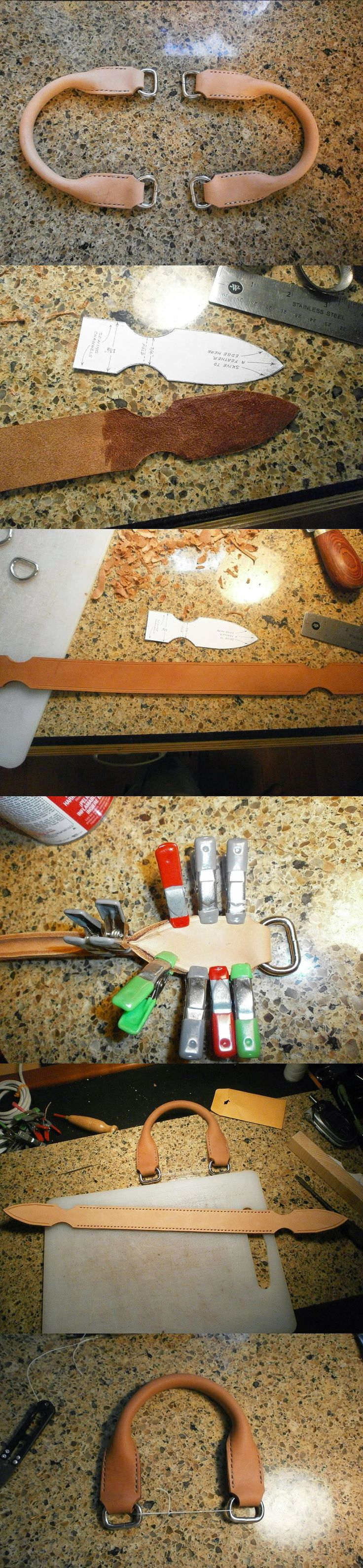 Leather handle tutorial                                                                                                                                                     Más                                                                                                                                                                                 Más