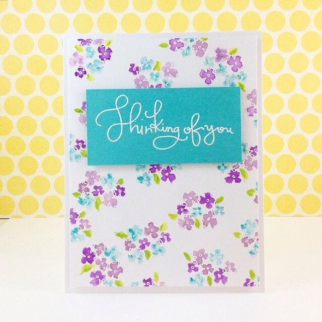 Using #simonsaysstamp colour combo this week and Thinking of You stamp set Will blog this one soon! #SSSFAVE