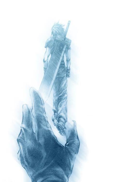 Zack Fair and Cloud Strife. Fan art.  Final Fantasy VII: Crisis Core.