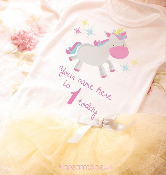 Baby girls first birthday outfit  birthday tutu personalised