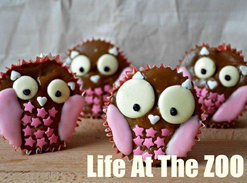 Owl Valentine Cupcakes #Owl #valentine #Cupcakes