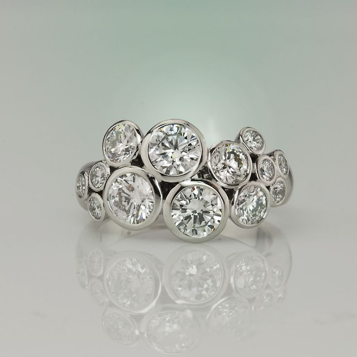 Bubbles Diamond Ring
