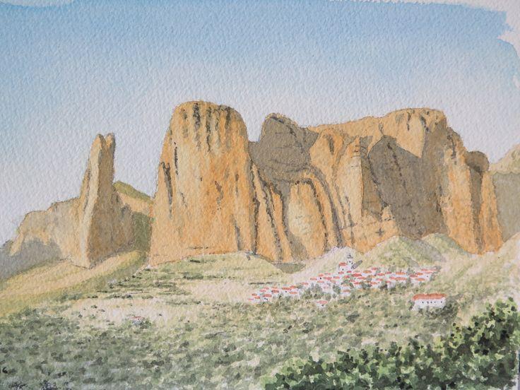 Mayos de Riglos.   Huesca Acuarela