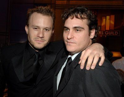 Joaquin Phoenix and Heath Ledger at event of 12th Annual Screen Actors Guild Awards