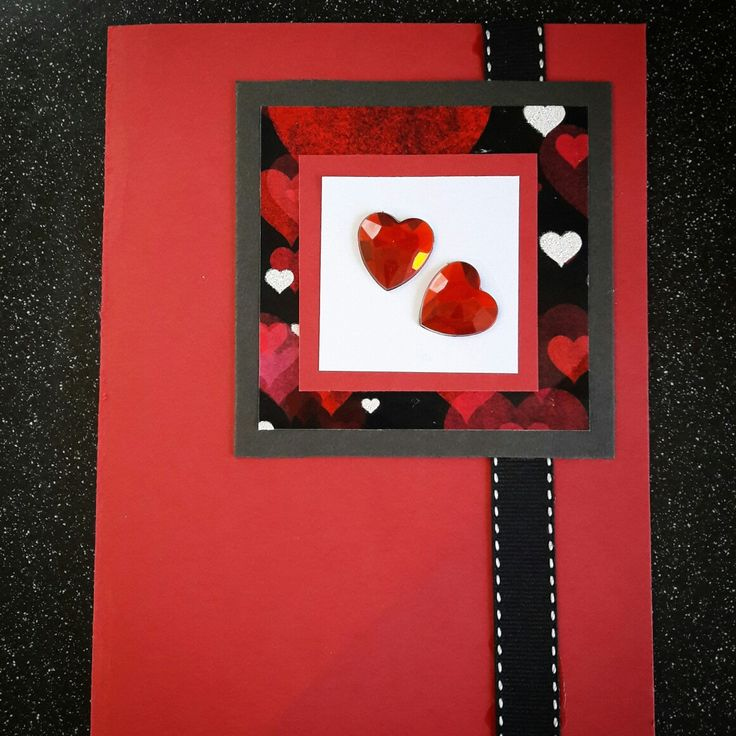Hand made card with love heart detail #handmadecards #love #homecrafts