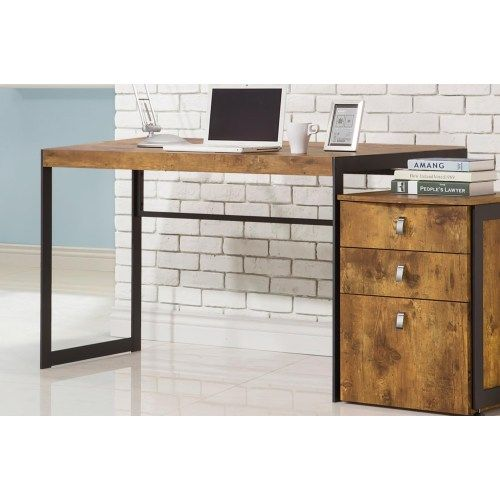 Coaster Estrella Industrial Computer Desk with Metal Frame - Coaster Fine Furniture