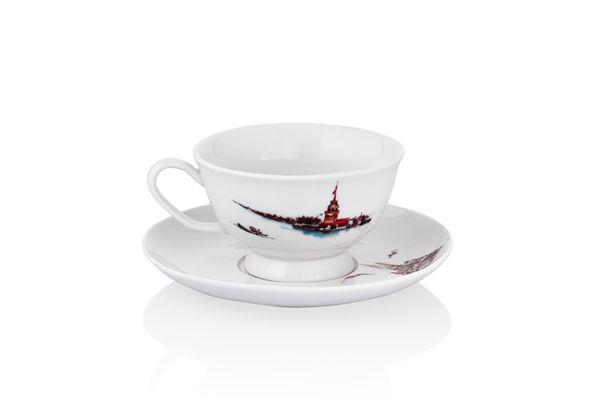 Pierre Cardin 6 lı Kahve Fincanı İstanbul Kırmızı   cazip geldi