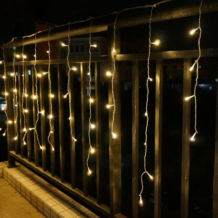 Perfect Curtain LED String Lights Outdoor Decoration Designs Christmas New Year Holidays
