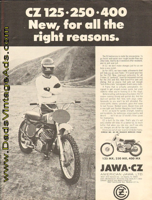 1973 CZ motocross – New, for all the right reasons.