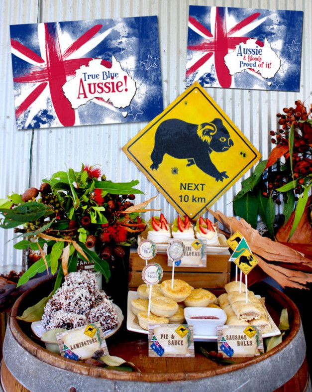 australian themed birthday party ideas