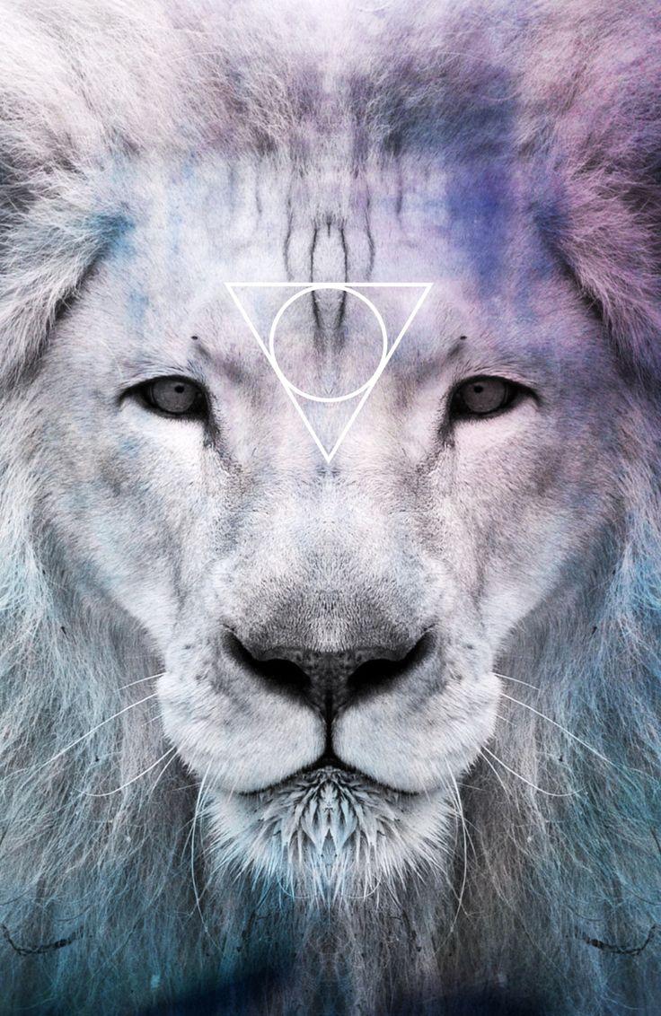 Iphone wallpaper tumblr lion - Triangle And Wolf Ile Ilgili G Rsel Sonucu