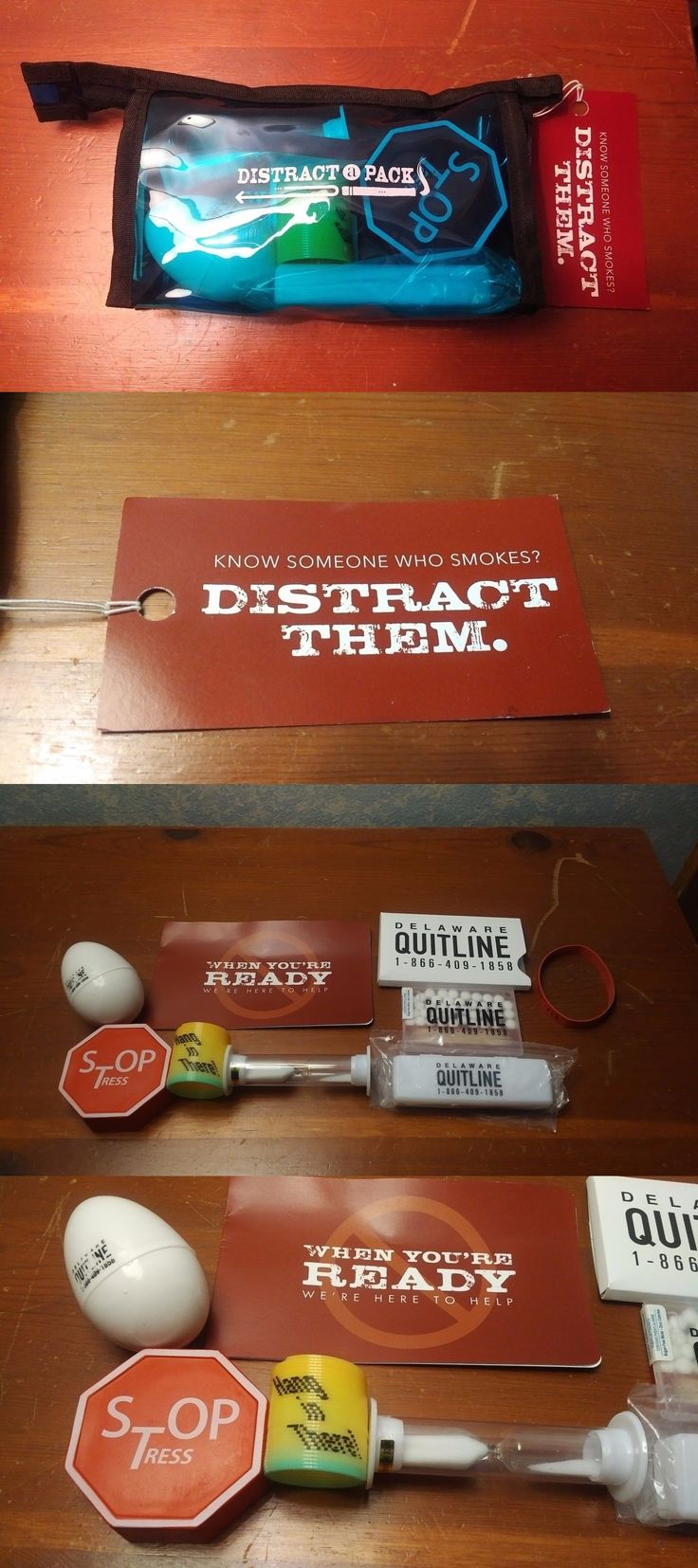 Other Smoking Cessation: Distract A Pack - Quit Smoking Kit - Several Stop Smoking Aids In The Pack -> BUY IT NOW ONLY: $33.33 on eBay!