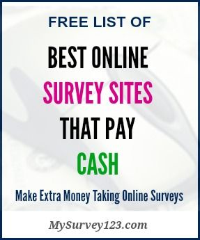 List of top online surveys sites that Pay Cash (Paypal, Check or Prepaid Visa/Master debt cards) for taking paid surveys, focus group or product testings!