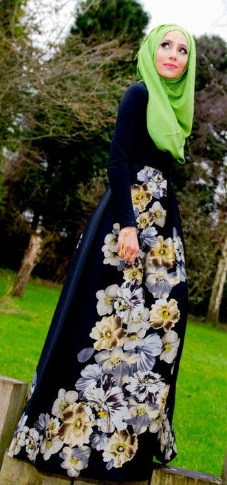http://abayatrade.com muslim magazine #Hijab Flourish Dress.