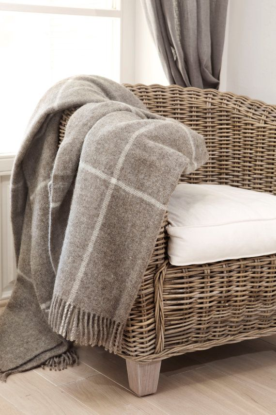 100 % NATURAL Pure New Scandinavian Wool Throws. The Main Thing Is That  Producing These