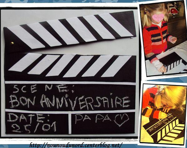 Clap cinéma pour l'anniversaire du papa de Lison et Gaspard cadeau idéal aussi pour la fête des pères http://nounoudunord.centerblog.net/1641-clap-cinema-pour-anniversaire-du-papa-de-lison-et-gaspard