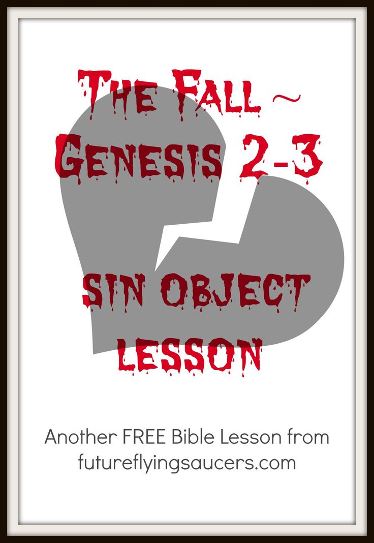 The Fall ~ Genesis 2-3 (sin object lesson