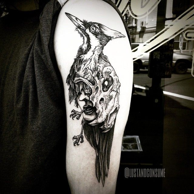 + that's all folks + thanks @jasonprenna #woodpecker #skull #face #lineworkers #etching #engraving #dotworkers #surrealism #blackworkerssubmission #blackworkers #blacktattoomag #blackndark #onlyblackart #blackworkartists #blackink #blacktattooart #blackwork #equilattera #btattooing #darkartists #tattooartistmagazine #tattooworkers #inkstinctsubmission #gristletatto #bushwick #brooklyn #tattoo #tattooartist #philtworavens #lustandconsume @lustandconsume