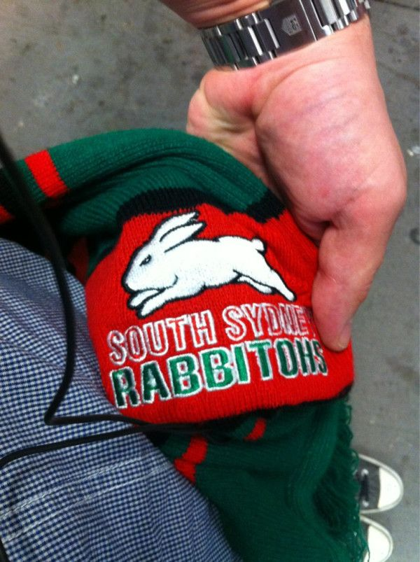 On the way to see Rabbitohs v Bulldogs, round 6, 2012 - thanks to @mac2thefuture on twitter