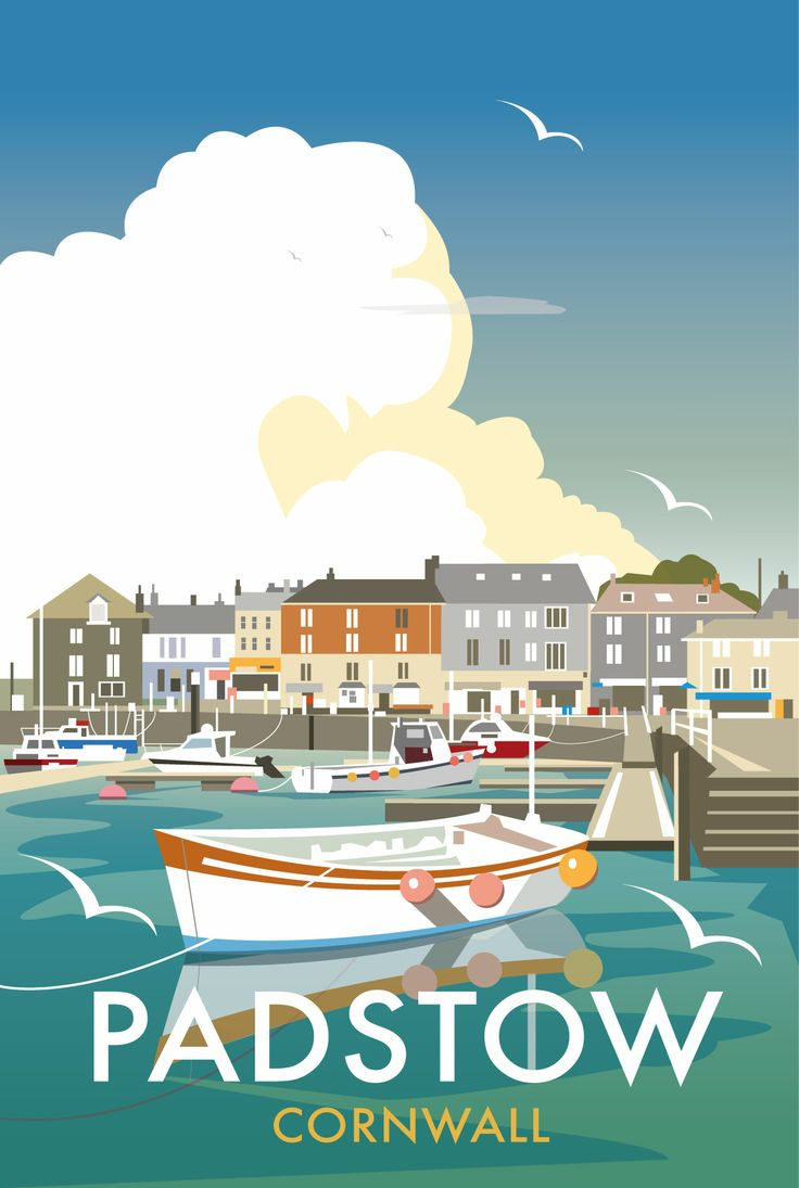 Padstow Quay (DT01) Beach and Coastal Print http://www.thewhistlefish.com/product/p-dt01-padstow-quay-art-print-by-dave-thompson #padstow #cornwall